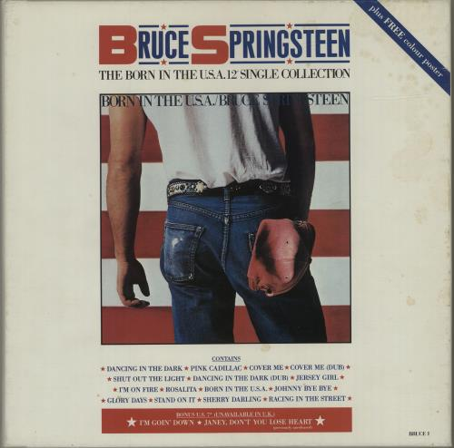 "Bruce Springsteen The Born In The USA 12"" Single Collection - Complete - EX Vinyl Box Set UK SPRVXTH686313"