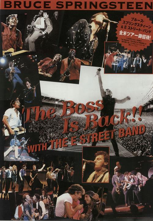 Bruce Springsteen The Boss Is Back! handbill Japanese SPRHBTH638813