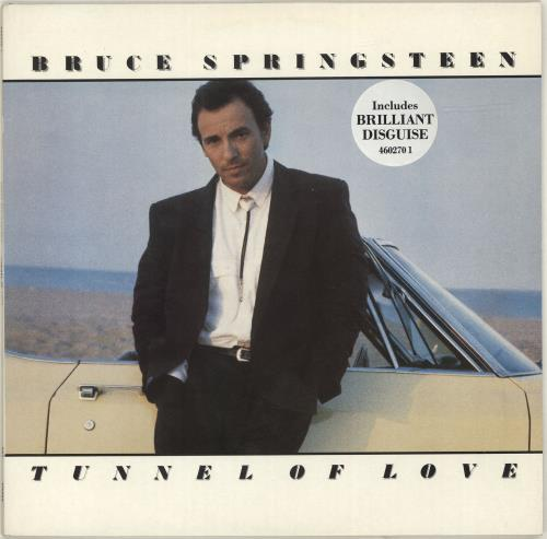 Bruce Springsteen Tunnel Of Love - BD Sticker vinyl LP album (LP record) UK SPRLPTU362557