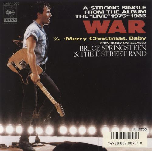 "Bruce Springsteen War 7"" vinyl single (7 inch record) Japanese SPR07WA55157"
