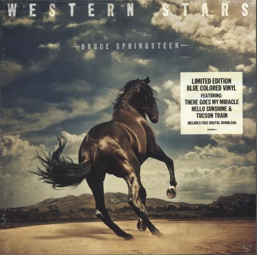 Bruce Springsteen Western Skies - Clear Blue Smoke Vinyl - Sealed 2-LP vinyl record set (Double Album) UK SPR2LWE723459