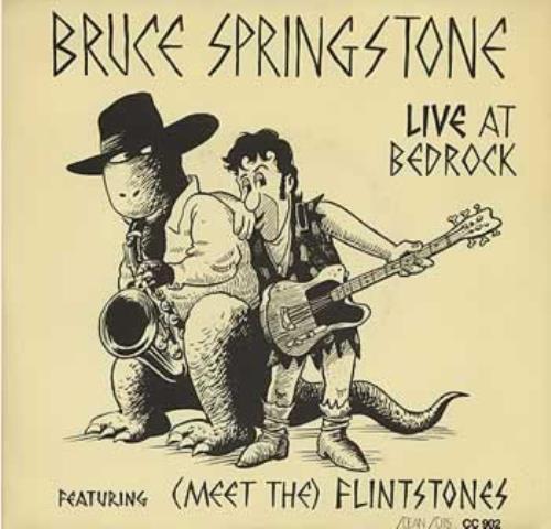 "Bruce Springstone Live At Bedrock 7"" vinyl single (7 inch record) US B.S07LI383619"