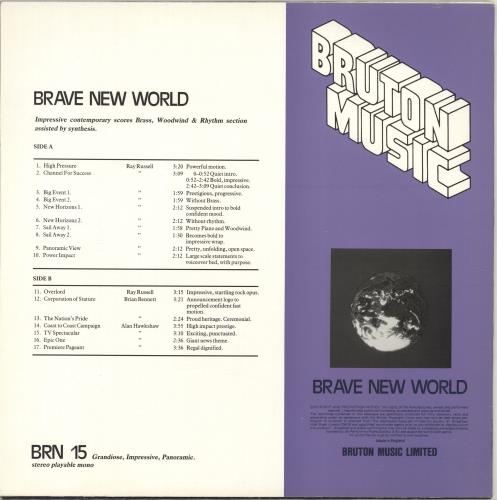 Bruton Music Brave New World vinyl LP album (LP record) UK QRULPBR690263