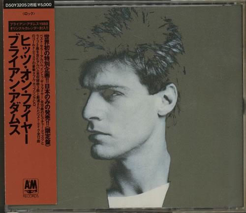 Bryan Adams Hits On Fire + Calendar 2 CD album set (Double CD) Japanese ADA2CHI194652