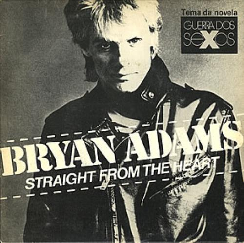 "Bryan Adams Straight From The Heart 7"" vinyl single (7 inch record) Brazilian ADA07ST232829"