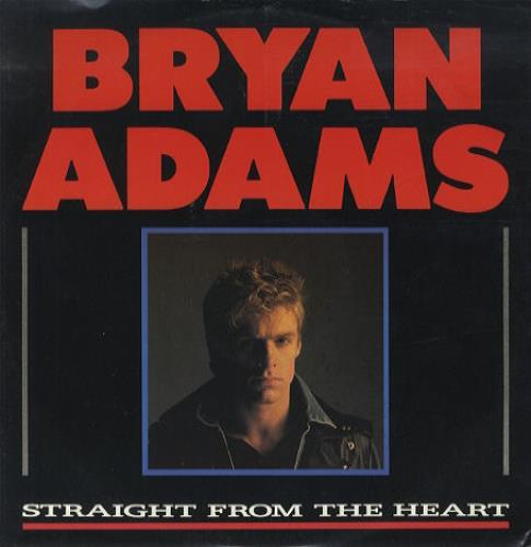 "Bryan Adams Straight From The Heart 12"" vinyl single (12 inch record / Maxi-single) UK ADA12ST45268"