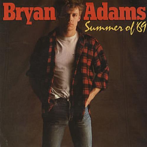 "Bryan Adams Summer Of '69 - Red Vinyl 7"" vinyl single (7 inch record) Australian ADA07SU61742"