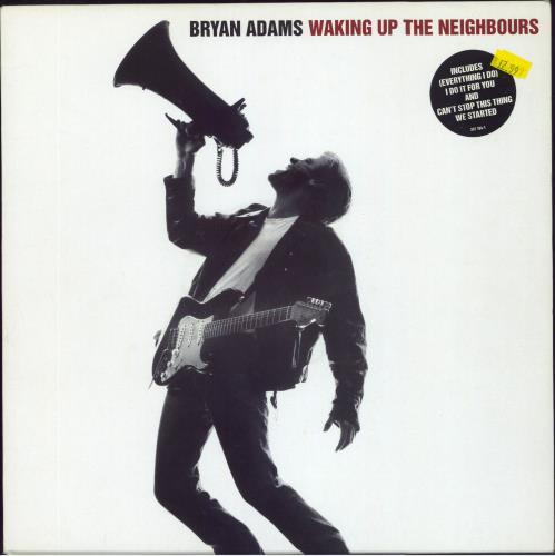 Bryan Adams Waking Up The Neighbours - Stickered 2-LP vinyl record set (Double Album) UK ADA2LWA643918