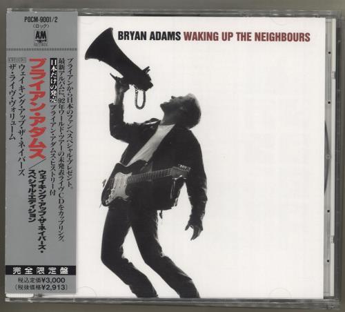 Bryan Adams Waking Up The Neighbours CD album (CDLP) Japanese ADACDWA11210