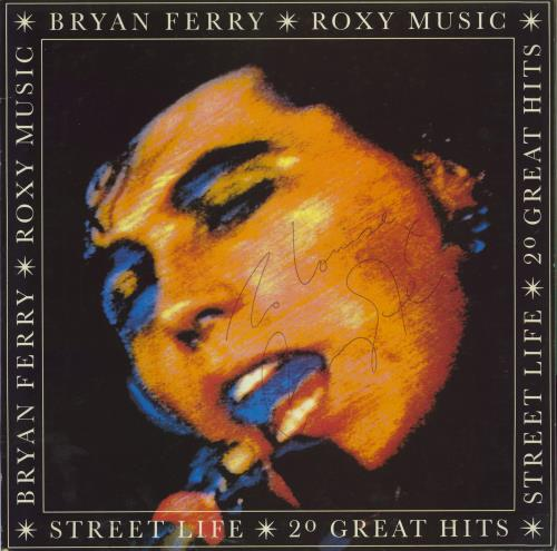 Bryan Ferry Street Life - 20 Great Hits - Autographed 2-LP vinyl record set (Double Album) UK FER2LST298472