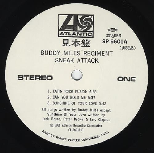Buddy Miles Sneak Attack 2-LP vinyl record set (Double Album) Japanese BME2LSN362103