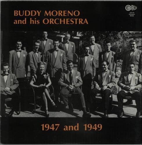 Buddy Moreno 1947 And 1949 vinyl LP album (LP record) US IUDLPAN648766