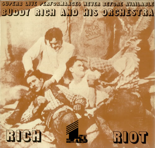 Buddy Rich Rich Riot vinyl LP album (LP record) UK BU-LPRI451213