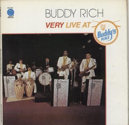 Buddy Rich Very Live At Buddy's Place vinyl LP album (LP record) US BU-LPVE748453