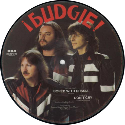 """Budgie Bored With Russia 7"""" vinyl picture disc 7 inch picture disc single UK BUD7PBO284821"""