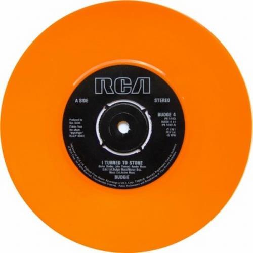 """Budgie I Turned To Stone - Orange 7"""" vinyl single (7 inch record) UK BUD07IT587398"""