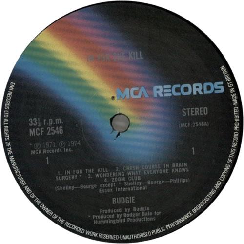 Budgie In For The Kill - 1st - EX vinyl LP album (LP record) UK BUDLPIN623008