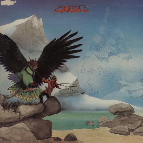 Budgie Never Turn Your Back On A Friend - 1st - Autographed vinyl LP album (LP record) UK BUDLPNE760379