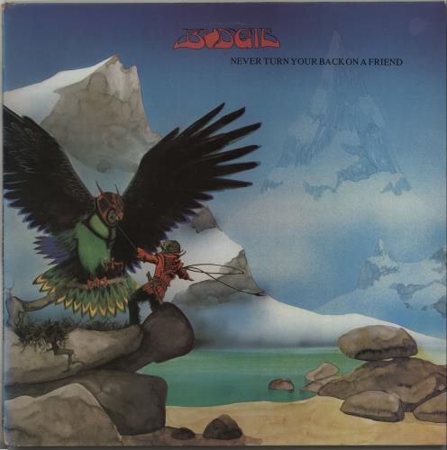 Budgie Never Turn Your Back On A Friend vinyl LP album (LP record) UK BUDLPNE664692