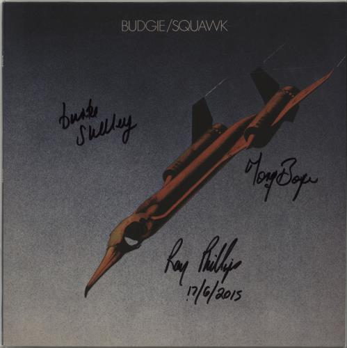 Budgie Squawk - 180gm - Fully Autographed vinyl LP album (LP record) UK BUDLPSQ679478