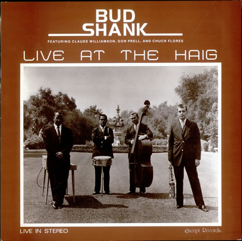 Bud Shank Live At The Haig vinyl LP album (LP record) UK BU5LPLI510578