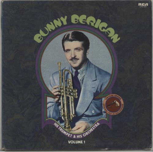 Bunny Berigan His Trumpet & His Orchestra Volume 1 vinyl LP album (LP record) US 5BBLPHI675755