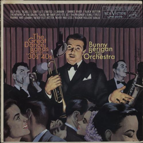Bunny Berigan The Great Dance Bands Of The 30's And 40's vinyl LP album (LP record) US 5BBLPTH675993