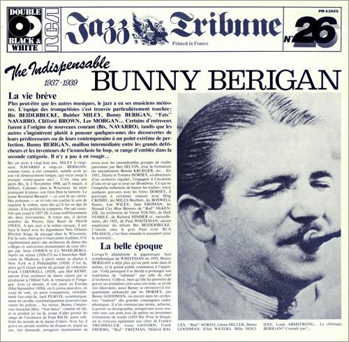 Bunny Berigan The Indespensible Bunny Berigan 1936-39 2-LP vinyl record set (Double Album) French 5BB2LTH442763