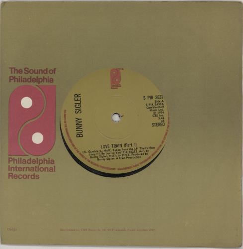 "Bunny Sigler Love Train 7"" vinyl single (7 inch record) UK BNX07LO756637"