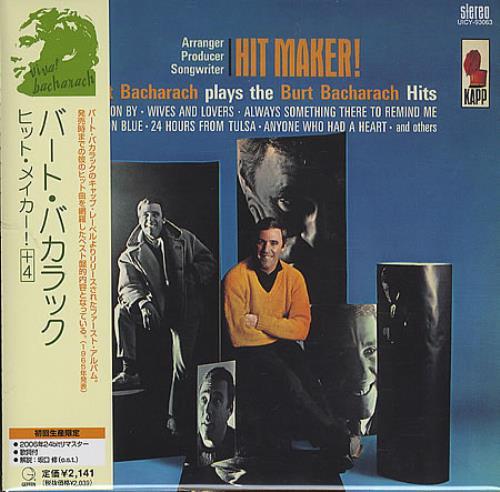 Burt Bacharach Hitmaker! Burt Bacharach Plays The Burt Bacharach Hits CD album (CDLP) Japanese BAHCDHI396129
