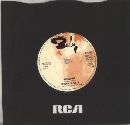 """Burundi Black Marabunta 7"""" vinyl single (7 inch record) UK D8T07MA734693"""