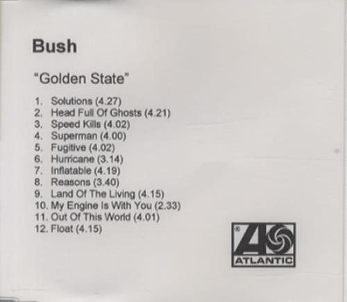 Bush Golden State CD-R acetate UK B-UCRGO203175