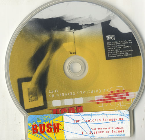 "Bush The Chemicals Between Us CD single (CD5 / 5"") US B-UC5TH145117"
