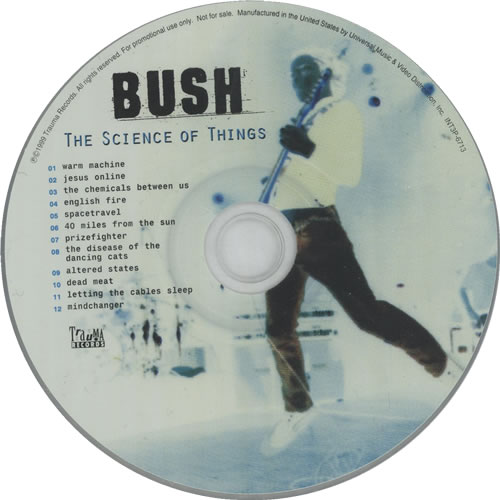 Bush The Science Of Things CD album (CDLP) US B-UCDTH146360