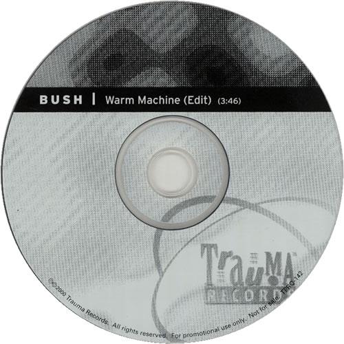 """Bush Warm Machine CD single (CD5 / 5"""") US B-UC5WA158126"""