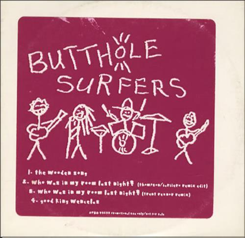 "Butthole Surfers The Wooden Song CD single (CD5 / 5"") US BUTC5TH203518"