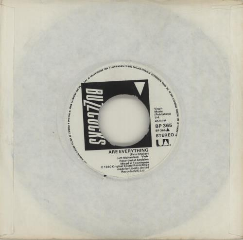 "Buzzcocks Are Everything / Why She's A Girl From The Chainstore 7"" vinyl single (7 inch record) UK BUZ07AR679778"