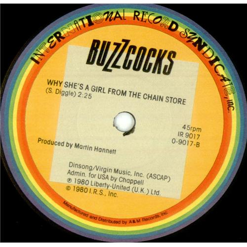 "Buzzcocks Are Everything 7"" vinyl single (7 inch record) US BUZ07AR424033"