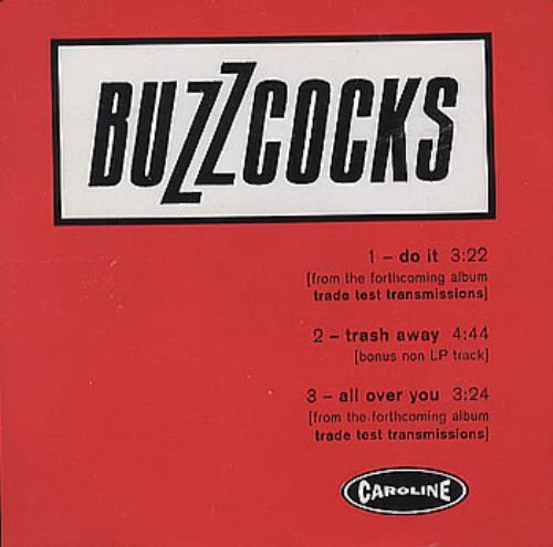 "Buzzcocks Do It CD single (CD5 / 5"") US BUZC5DO100687"
