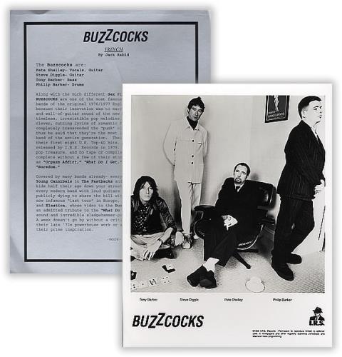 Buzzcocks French media press pack US BUZPPFR388634