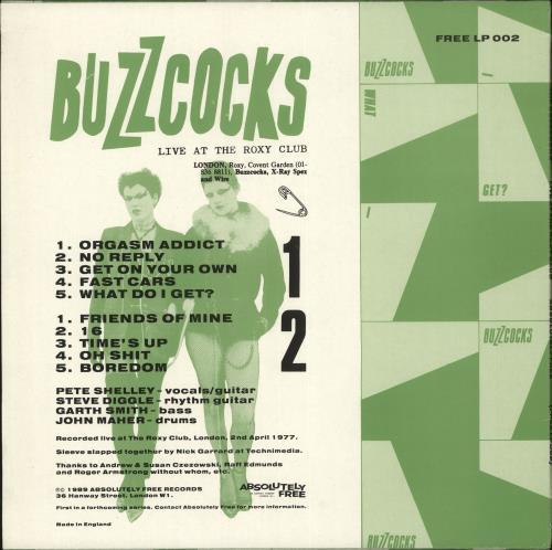 Buzzcocks Live At The Roxy Club vinyl LP album (LP record) UK BUZLPLI708035