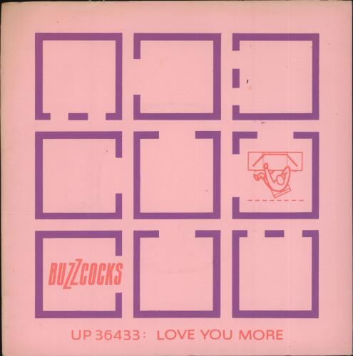 "Buzzcocks Love You More + Sleeve 7"" vinyl single (7 inch record) UK BUZ07LO106181"