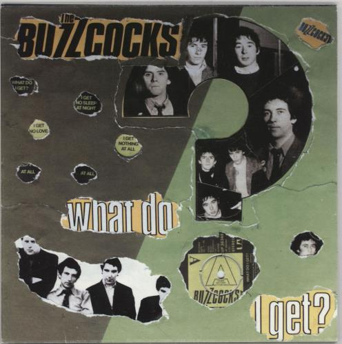 "Buzzcocks What Do I Get? - Punk Art Sleeve 7"" vinyl single (7 inch record) UK BUZ07WH757444"