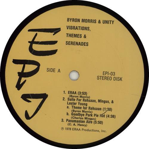Byron Morris & Unity Vibrations, Themes & Serenades - 1st vinyl LP album (LP record) US I87LPVI675260