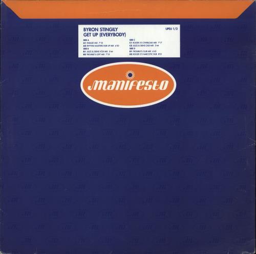 Byron Stingily Get Up Everybody Uk Promo 12 Vinyl Single 12 Inch Record Maxi Single 705797