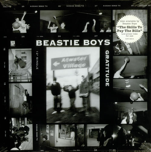 "Beastie Boys Gratitude - Sealed 12"" vinyl single (12 inch record / Maxi-single) US BEA12GR115831"