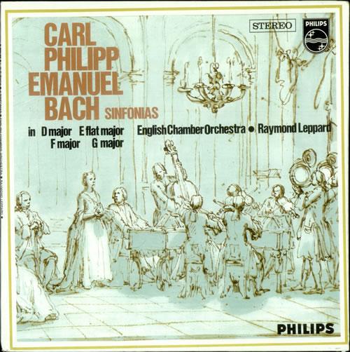 C. P. Emanuel Bach Sinfonias vinyl LP album (LP record) Dutch C4NLPSI533214