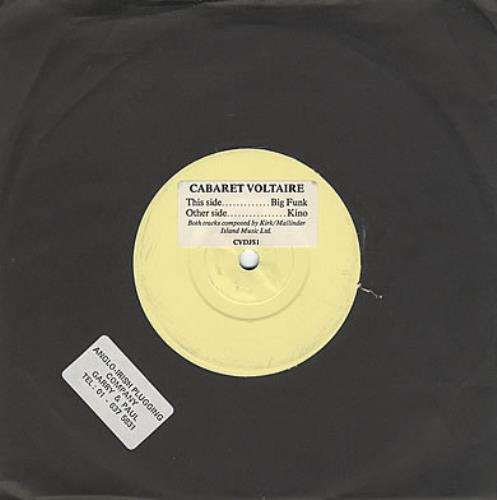 "Cabaret Voltaire Big Funk / Kino 7"" vinyl single (7 inch record) UK VOL07BI374150"