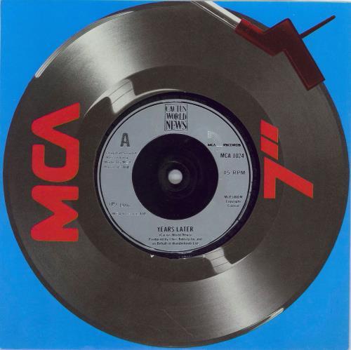 "Cactus World News Years Later 7"" vinyl single (7 inch record) UK CWN07YE769106"