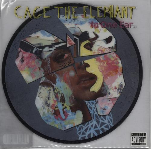 "Cage The Elephant In One Ear 7"" vinyl picture disc 7 inch picture disc single UK CG37PIN675619"